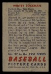 1951 Bowman #37  Whitey Lockman  Back Thumbnail