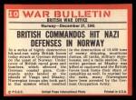 1965 Philadelphia War Bulletin #10   Hit and Run! Back Thumbnail