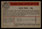 1953 Bowman Firefighters #30   1900 Water Tower Back Thumbnail