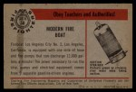 1953 Bowman Firefighters #58   Modern Fire Boat - Los Angeles Back Thumbnail
