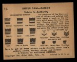 1941 Gum Inc Uncle Sam #15   Salute To Authority Back Thumbnail