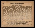 1941 Gum Inc Uncle Sam #39   Use Of The Chute Back Thumbnail