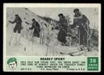 1966 Philadelphia Green Berets #28   Deadly Sport Front Thumbnail