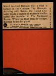 1966 Topps Batman Red Bat #9   Knighting a Thief Back Thumbnail