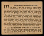 1938 Horrors of War #177   Mute Signs of Resounding Battle Back Thumbnail