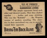 1950 Topps Bring Em Back Alive #39   Test Of Strength Back Thumbnail
