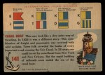 1955 Topps Rails & Sails #141   Canal Boat Back Thumbnail