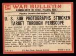 1965 Philadelphia War Bulletin #34   One Less Jap Back Thumbnail