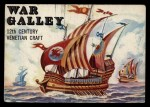 1955 Topps Rails & Sails #131   War Galley Front Thumbnail