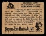 1950 Topps Bring Em Back Alive #97   Lightning Claws Back Thumbnail