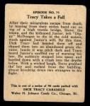 1931 Johnson Candy Dick Tracy R41 #75   Tracy Takes Fall Back Thumbnail