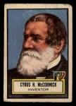 1952 Topps Look 'N See #72  Cyrus H. McCormick  Front Thumbnail