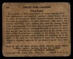 1941 Gum Inc Uncle Sam #63   Field Radio Back Thumbnail