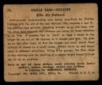 1941 Gum Inc Uncle Sam #75   Rifle Air Defense Back Thumbnail