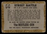 1958 Topps TV Westerns #56   Street Battle  Back Thumbnail