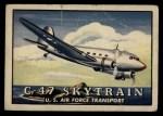 1952 Topps Wings #88   C-47 Skytrain Front Thumbnail