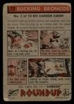 1956 Topps Round Up #72   -  Kit Carson Bucking Broncos Back Thumbnail
