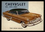 1954 Topps World on Wheels #89   Chevrolet Bel-Air 1953 Front Thumbnail