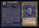 1953 Topps Who-Z-At Star #14  William Demarest  Back Thumbnail