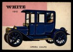 1954 Topps World on Wheels #17   White Opera Coupe 1910 Front Thumbnail