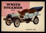 1954 Topps World on Wheels #61   White Steamer Touring 1906 Front Thumbnail