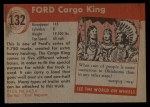 1954 Topps World on Wheels #132   Ford Cargo King Back Thumbnail