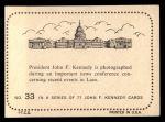 1964 Topps JFK #33   News Conference Back Thumbnail