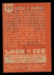 1952 Topps Look 'N See #99  Lester Pearson  Back Thumbnail
