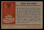 1954 Bowman Power for Peace #47   Modern Aerial Warrior Back Thumbnail