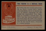 1954 Bowman Power for Peace #86   This Fighter is Vertical Riser Back Thumbnail
