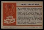 1954 Bowman Power for Peace #39   Firebee - Turbo-Jet Target Back Thumbnail