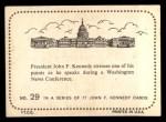 1964 Topps JFK #29   JFK Speaks At Wash. News Conf. Back Thumbnail