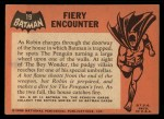 1966 Topps Batman Black Bat #19   Fiery Encounter Back Thumbnail