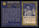 1953 Topps Who-Z-At Star #74  Preston Foster  Back Thumbnail