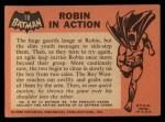 1966 Topps Batman Black Bat #18   Robin in Action Back Thumbnail