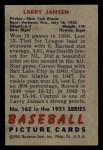 1951 Bowman #162  Larry Jansen  Back Thumbnail