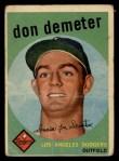1959 Topps #324  Don Demeter  Front Thumbnail