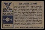 1954 Bowman U.S. Navy Victories #21   Los Angeles Captured Back Thumbnail