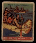 1933 Goudey Indian Gum #194   Indian Naval Warfare  Front Thumbnail