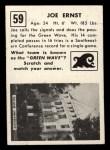1951 Topps Magic #59  Joe Ernst  Back Thumbnail