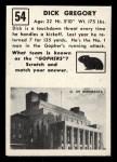 1951 Topps Magic #54  Dick Gregory  Back Thumbnail