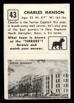 1951 Topps Magic #43  Charles Hanson  Back Thumbnail