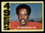 1972 Topps #22  Vic Washington  Front Thumbnail