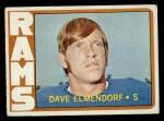 1972 Topps #109  Dave Elmendorf  Front Thumbnail