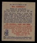 1949 Bowman #105  Bill Kennedy  Back Thumbnail