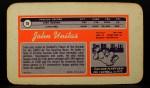 1970 Topps Super #15  Johnny Unitas  Back Thumbnail