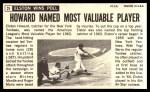 1964 Topps Giants #21  Elston Howard   Back Thumbnail