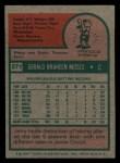 1975 Topps Mini #271  Jerry Moses  Back Thumbnail