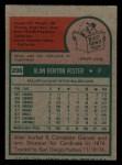 1975 Topps Mini #296  Alan Foster  Back Thumbnail