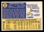 1970 Topps #282  Steve Huntz  Back Thumbnail